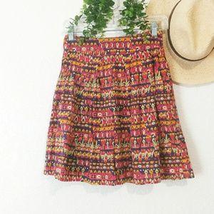 edme & esyllte Anthro Boho Tribal Flare Mini Skirt